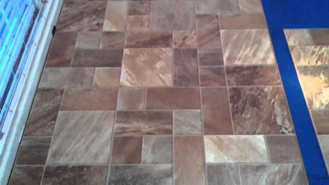 Tile Pattern Laminate Flooring - YouTube
