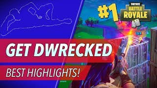 Get DWrecked #2 - Crazy Snipes, Funny Moments, and Squad Wipes (Fortnite Battle Royale)