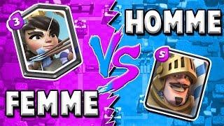 HOMME VS FEMME | EPIC COMBAT !! Clash Royale FR
