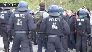 Arrests made at anti-lockdown protest in Berlin