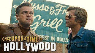 Quentin Tarantino's latest flick, starring Brad Pitt and Leonardo DiCaprio, hits theaters on July 26. Exclusives from #ETonline ...