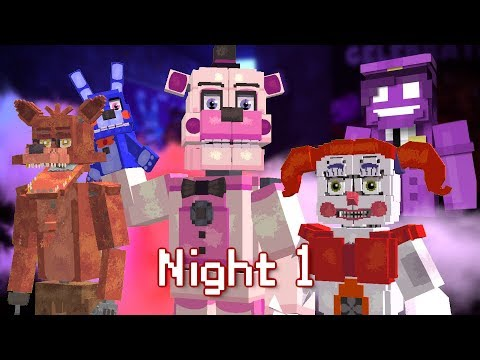 MINE Nights at Freddy's ORIGINS | Night 1 | Five Nights at Freddy's Minecraft Roleplay