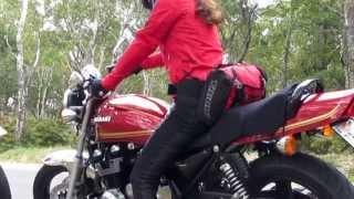 バイクツーリング EVOLUTION200 MotoStyle +女性ライダー ビーナスライン タマシイレボリューション