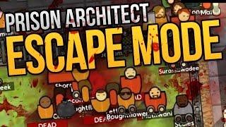 Prison Architect Escape Mode - INSANE BLOODBATH ★ Escape Mode Gameplay