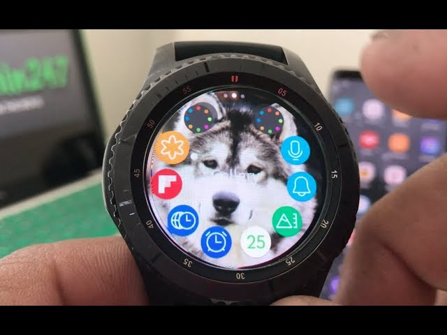 How To Put Custom Wallpaper On Your Gear S3 Youtube
