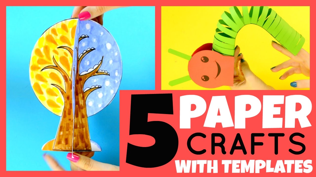 free kids craft ideas 5 paper crafts for with templates paper crafts 4509
