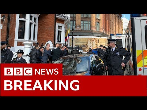 Footage shows Julian Assange being dragged from the Ecuadorian embassy - BBC News