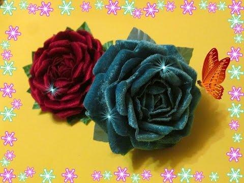 Роза из ткани своими руками / Роза из бархата  Мастер класс / Елена Шевченко