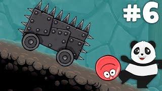 Mağara Bölümüne Geçtik! Panda Kırmızı Top Oynuyor Altıncı Bölüm! Red Ball 4