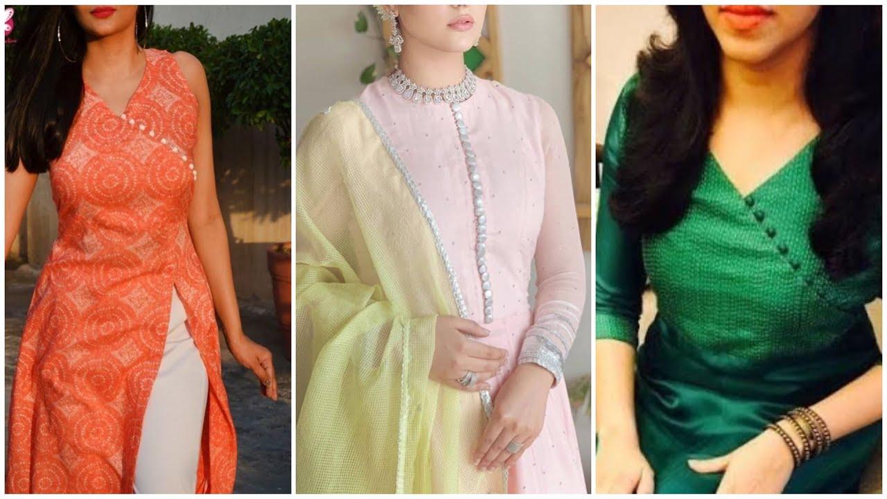 Top 30 Neck Design With Button || Neck Designs For Punjabi Suits || Latest Neck Design For Suit 2021