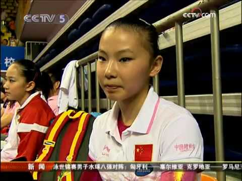 27.7.2009 CCTV News. Interview Yang Yilin and He Kexin