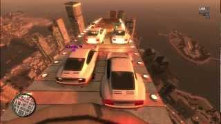 GTA IV MODS PS3 ONLINE CRAZY RAMPS IN THE SKY