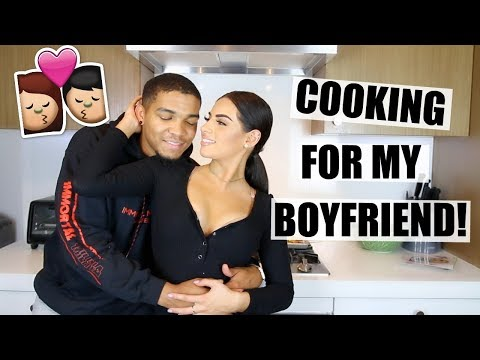 COOKING FOR MY BOYFRIEND! I TRIED SOMETHING NEW...