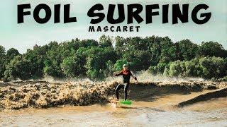 Amazing Tidal Bore Foil Surfing ► MASCARET 🌊🌊🌊🏄♂️