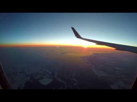 Time lapse: Portland, Oregon USA to London Heathrow - 4K