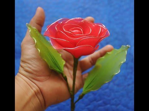 How to make veil rose/ Hướng dẫn làm hoa hồng bằng vải voan