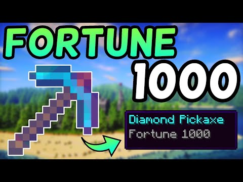 How To Get A Fortune 1,000 Pickaxe In Minecraft 1.13! (2019)
