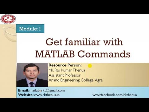 Lecture-3: Get familiar with MATLAB commands (Hindi/Urdu)