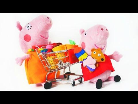 Видео с игрушками! Свинка Пеппа онлайн! Игрушки из мультфильмов: Peppa Pig подарили собачку!