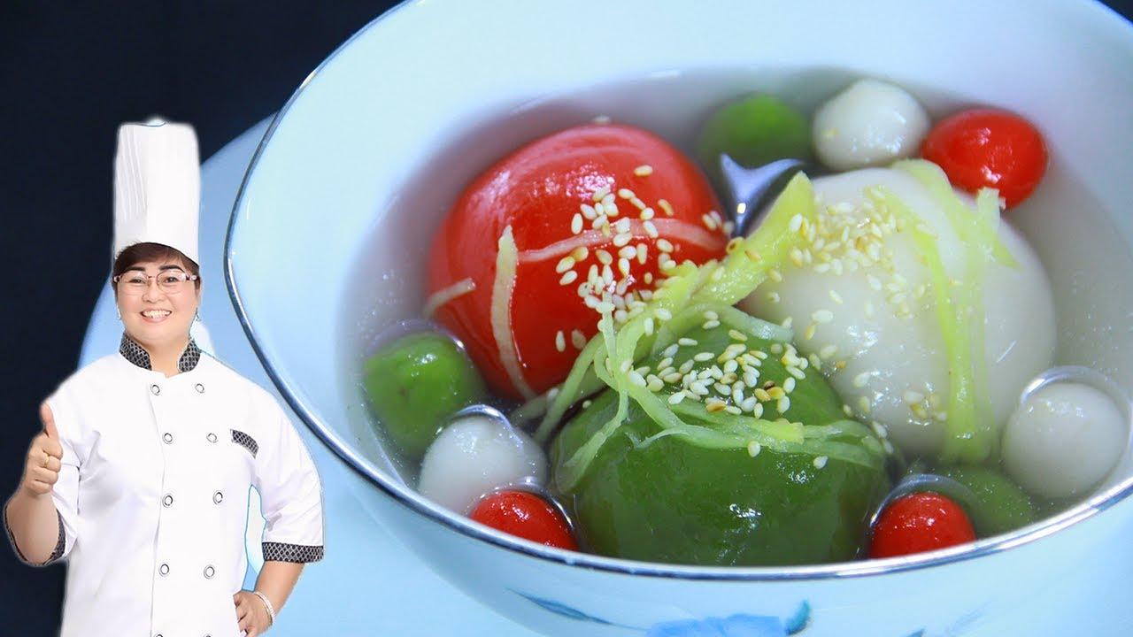 Cách nấu chè trôi nước 3 màu (chè tam sắc) siêu dễ, không phẩm màu, hóa chất