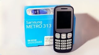 samsung METRO 313 Mobile unboxing, Feature  in Hindi