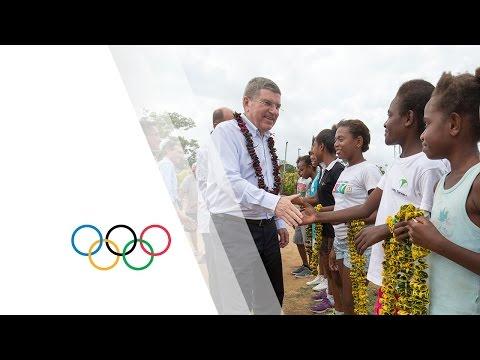 IOC President brings hope to Sport in Vanuatu