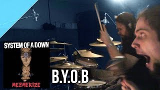 system of a down b y o b drum cover by allan heppner