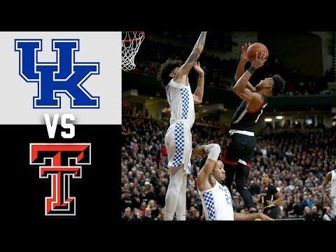 #15 Kentucky Vs #18 Texas Tech Highlights 2020 College Basketball