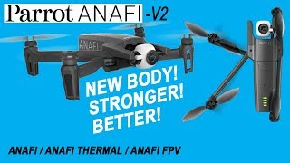 PARROT ANAFI V2 - NEW BODY STYLE SIDE BY SIDE COMPARISON