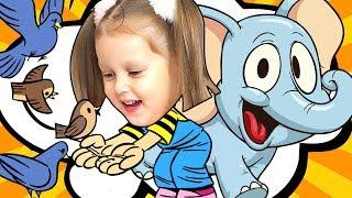Изучаем Английский с Амелькой Learn Animals Изучаем животных на английском Learn English Kids Video