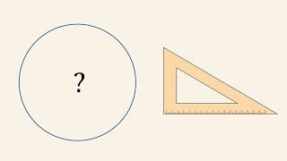 Zagadka - Jak wyznaczyć środek okręgu za pomocą ekierki?