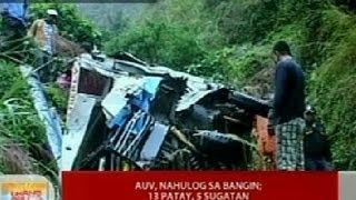 UB: AUV, nahulog sa bangin sa Buguias, Benguet; 13, patay, 5 sugatan