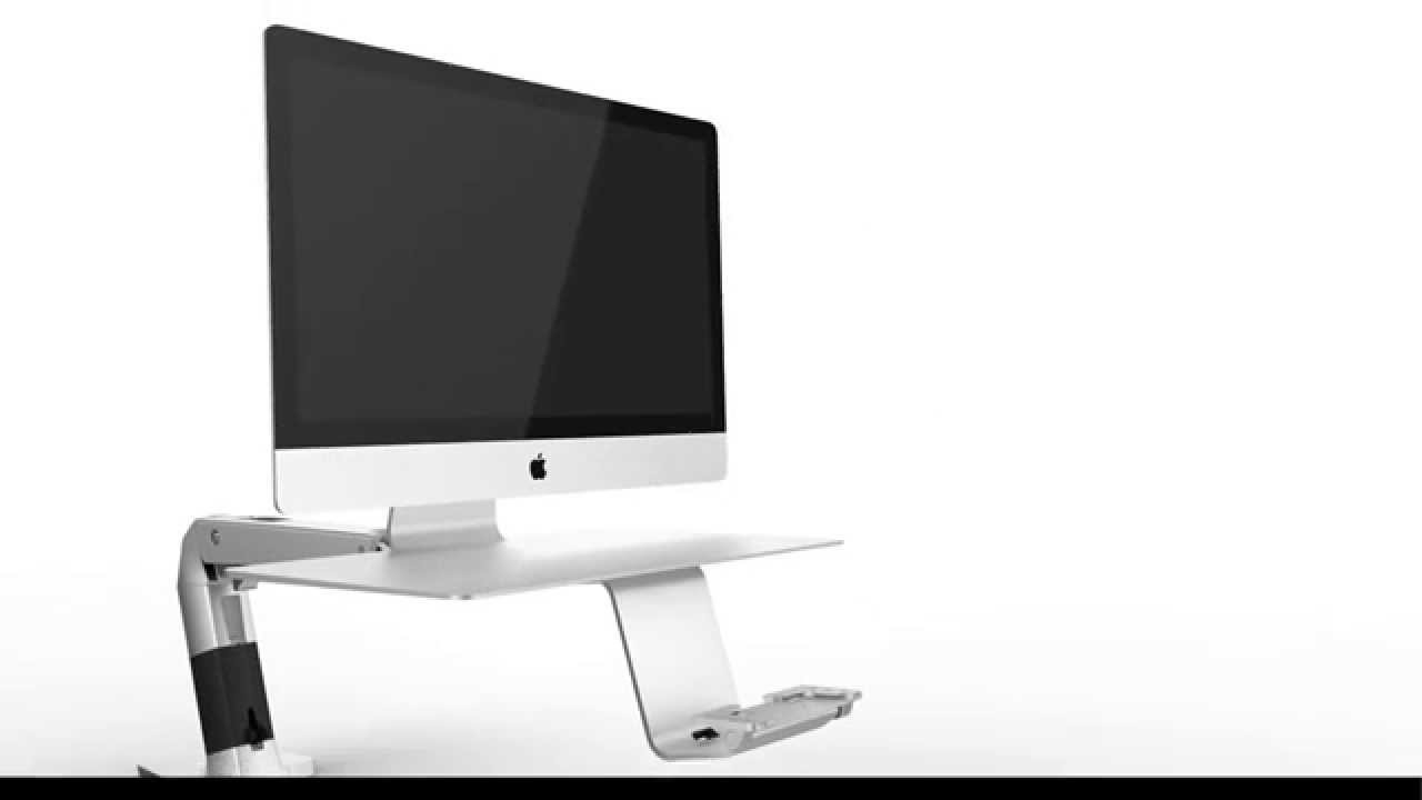 How To Install Ergotron 24 422 227 WorkFit A For Apple Vesa Mount Video    YouTube