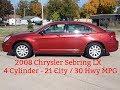 2008 Chrysler Sebring LX 2.4L 4 cyl 4 Cylinder 162K Miles $3200