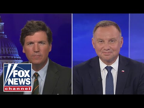 Tucker is joined by Polish president for 'bombshell' exclusive interview