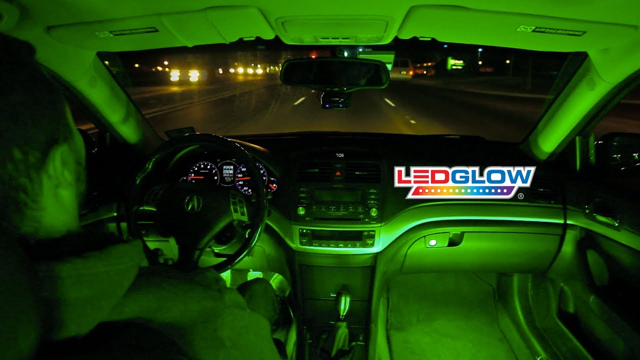 Ledglow S Green Expandable Smd Led Interior Kit Youtube
