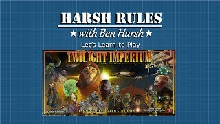 Harsh Rules: Let's Learn To Play - Twilight Imperium (Third Edition) - Part II : Strategy Cards