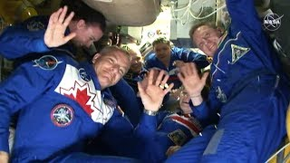 Canadian astronaut David Saint-Jacques welcomed aboard the ISS