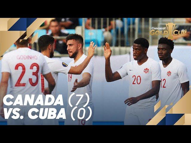 Canada (7) vs. Cuba (0) - Gold Cup 2019
