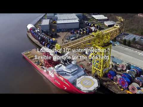 Oda - installing the subsea pipelines
