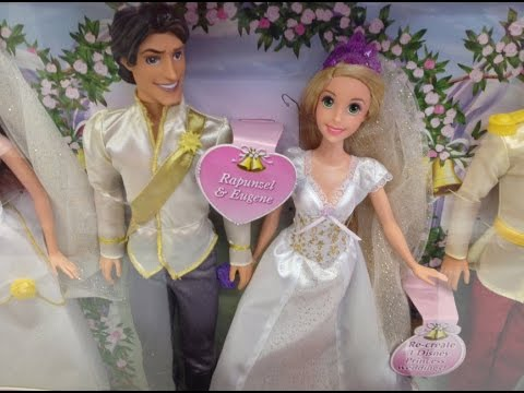 Disney Princess Fairytale Wedding Gift Set with Rapunzel, Cinderella ...
