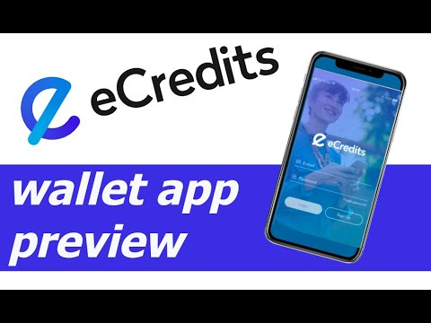 eCredits (crypto currency) eWallet preview video