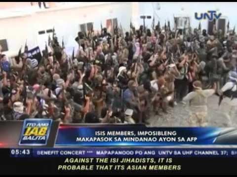 ISIS members imposibleng makapasok sa Mindanao ayon sa AFP