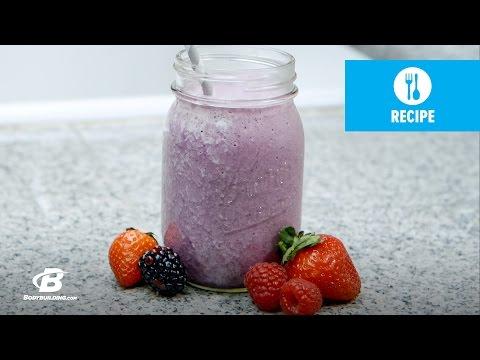 Berries & Cream Protein Shake | Quick Recipes