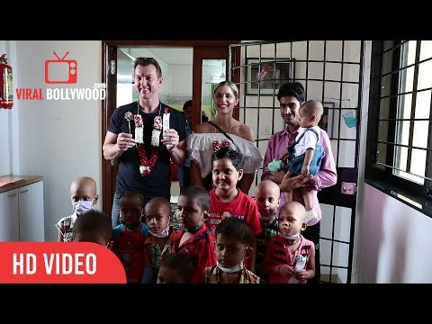 Exclusive Footage Of Brett Lee In India | Music Therapy program | For Young Cancer Patients