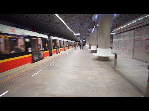Poland, Warsaw, metro ride from Świętokrzyska to Rondo ONZ, 2X OTIS elevator, 2X escalator