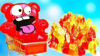 ЖЕЛЕЙНЫЙ медведь ВАЛЕРА и Много КОНФЕТ из Желе Товары из Алиекспресс Видео для детей