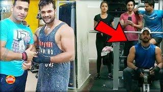 Baaghi Film के लिए खेसारी Gym में बहा रहे है पसीना। Khesari lal Gym Pb News