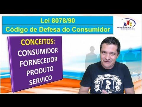 Aula 01, CDC, Código de Defesa do Consumidor,CDC para concursos, Lei 8078 90