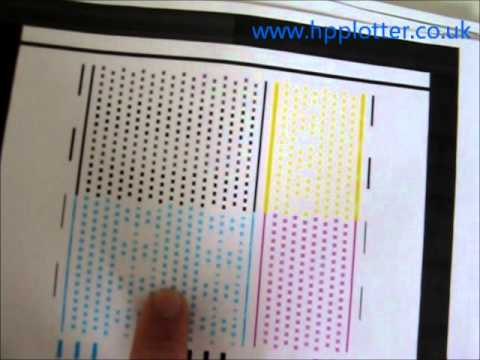 Designjet 100 130 Print Head Alignment Youtube